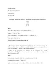 MA 265 statistical anlysis (1) assignment