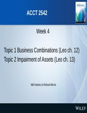 ACCT2542 S2 2016 Lecture 4 Business Combinations and Impairment.pptx