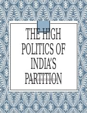 Presentation+High+Politics+India+Partition