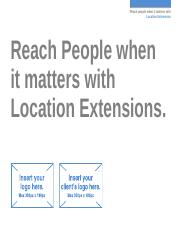 Search - Location Extensions