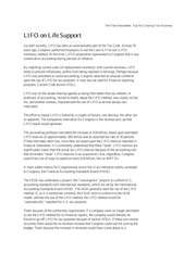 LIFO on Life Support