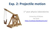 Projectile motion - presentation
