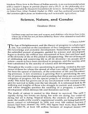 Science, Nature, and Gender. Vadana Shiva