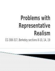 Week 9 Problems with Rep Realism
