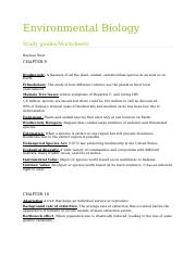 Environmental Biology Study Guide.docx