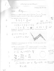 Past Exam #3 Solutions