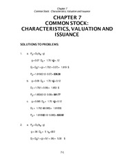 Chapter 7 - solutions COMMON STOCK