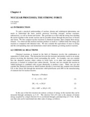 Nuclear Processes The Strong Force