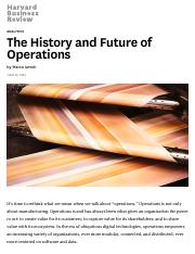 The History and Future of Operations