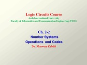 Ch. 2-2 Number Systems, Operations, and Codes-