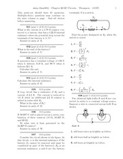 Quest 16 - Chapter 26 - DC Circuits Problems