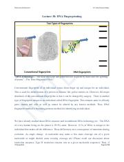 DNA Profiling lecture Notes