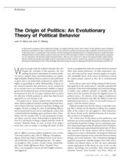 Alford & Hibbing 2004 Perspectives The Origin of Politics_ An Evolutionary Theory of Political Behav
