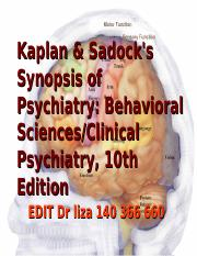kaplan and sadocks synopsis of psychiatry behavioral science clinical psychiatry