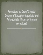 Receptors as Drug Targets Ch 8