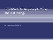 (3) How Much Delinquency Is There and Is It
