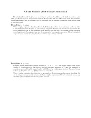 Sample Midterm Exam 2 Summer 2013 on Programming Languages and Compilers