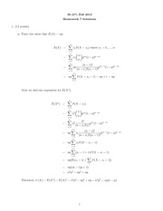 Homework 7 Questions and Solutions