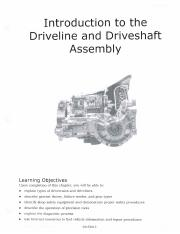 Ch 1 - Introduction to Driveshaft and Drivability