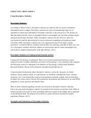 advantages of descriptive statistics pdf