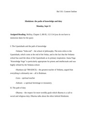 Rel 101 Content Outline Hinduism 3-6