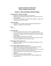 LEB.Study Guide.Final.Fall 2011