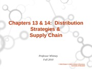 ch 13 and 14  Distribution and Supply Chain Student Version