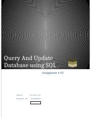 Query and update database using SQL