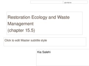 Restoration Ecology and Waste Management project