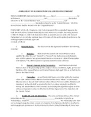Limited partnership agreement (Template)