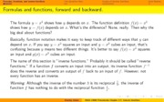 Chapter 2.7 Inverse functions
