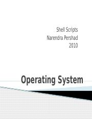 Operating System - Shell Script Contol Structures