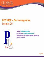 ECE 3800 Lecture Note 20