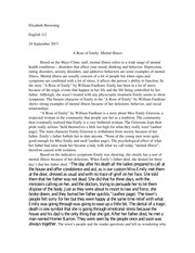 critical essay about a rose for emily Free essay: symbolism in a rose for emily by william faulkner william faulkner used a great deal of symbolism in this story his use of symbolism captivated.