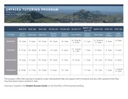 Orfalea College of Business Tutoring Schedule