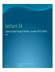 2014 - ELEE2450 - lectures  14 - MARKED UP (ppt) - design of decoders and encoders