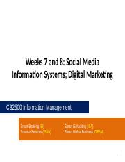 CB2500 - Week07 and Week08 - Social Media Information Systems_ Digital Marketing