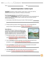 Question How does carbon move between the atmosphere ...