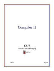 Lecture 30 - Compiler