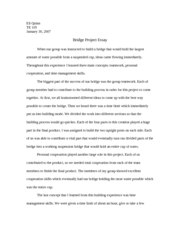 Bridge Essay