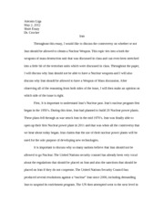 Global Issues Short Paper