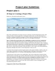 Project Plan Guidelines
