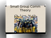 COMM 3571 - Ch. 2 (part 1) Small Group Theory