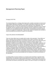 MGT 530 (Management Planning Paper)
