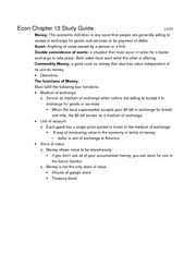 Econ 102 Chapter 13 Study Guide