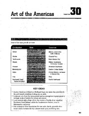 Chapter 30 Art Of The Americas AP Art Study Guide
