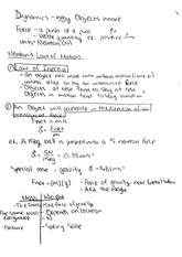 PHYS 4340 2011 Dynamics Class Notes