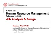 Job Analysis & Design PowerPoint Slides (S2)