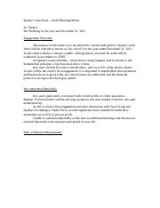 Sparky's Auto Parts Audit Planning Memo (incomplete).docx