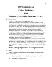 Project Guidelines 2015